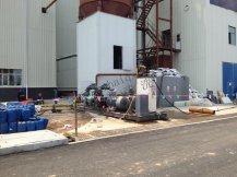 山西永济热1x350MW电厂清洗现场